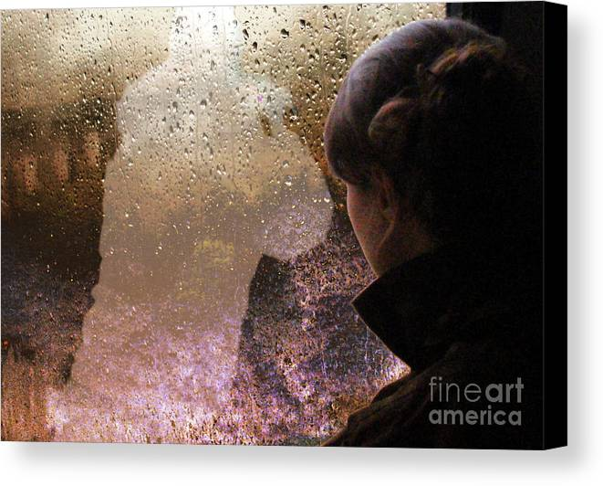 Scotland Canvas Print featuring the photograph The Girl On The Jacobite Train by Rodger Insh