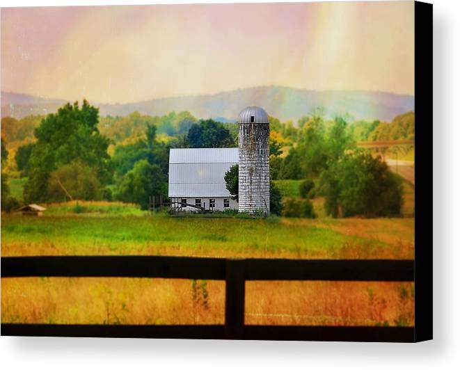 Farm Canvas Print featuring the photograph Tiny Silo by Jill Jacobs