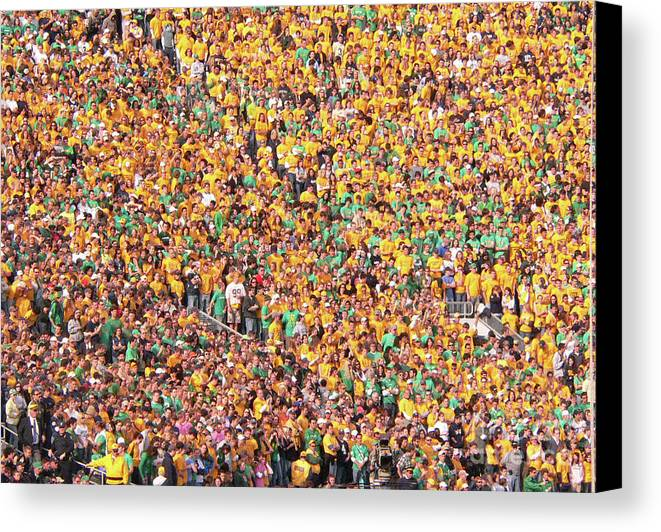 Notre Dame Canvas Print featuring the photograph Where's Waldo by David Bearden