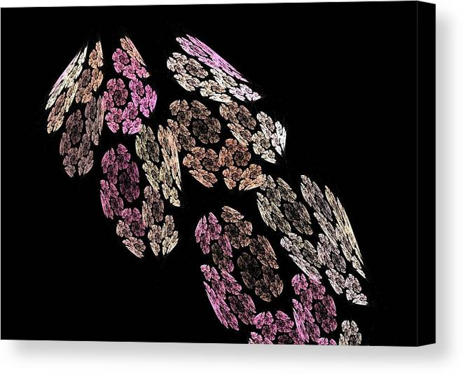Fractal Flames Canvas Print featuring the digital art Flowers by Michele Caporaso