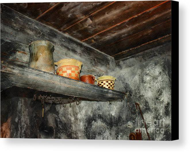 Photo Canvas Print featuring the photograph Above The Stove by Jutta Maria Pusl
