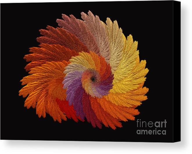 Autumn Colored Digital Art Canvas Print featuring the digital art Autumn's Colorwheel by Greg Jones