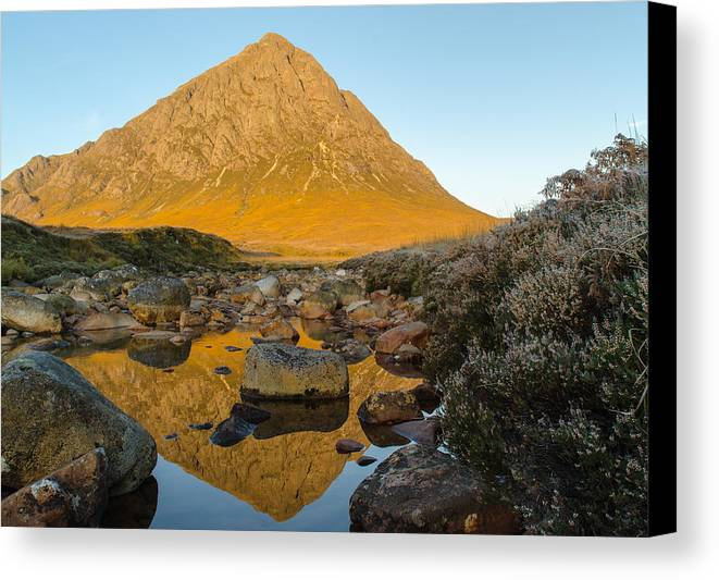 Buachaille Etive Mor Canvas Print featuring the photograph Buachaille Etive Mor At Sunrise by Ben Spencer