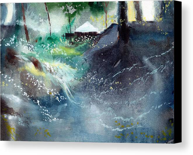 Nature Canvas Print featuring the painting Dream House 2 by Anil Nene