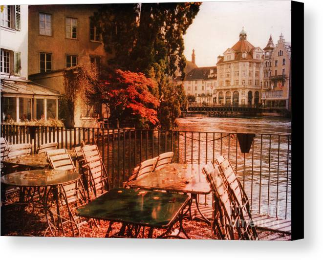 Lucerne Canvas Print featuring the photograph Fall In Lucerne Switzerland by Susanne Van Hulst