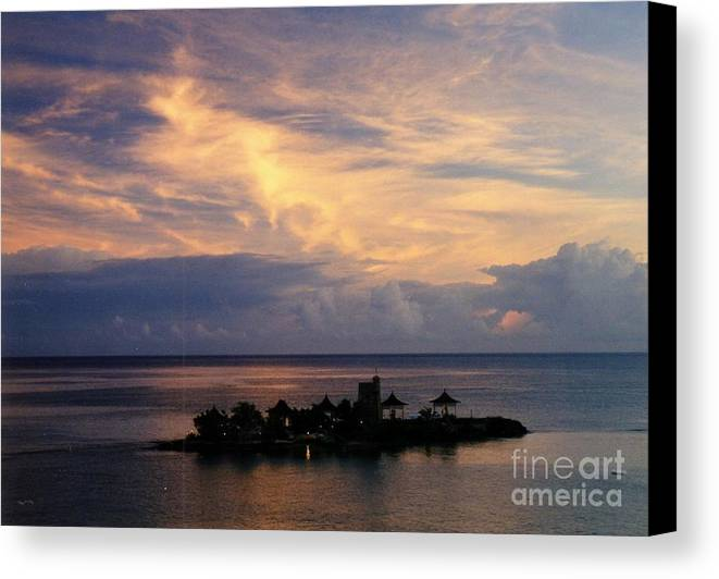Sunset Canvas Print featuring the photograph Island At Sunset by John Malone