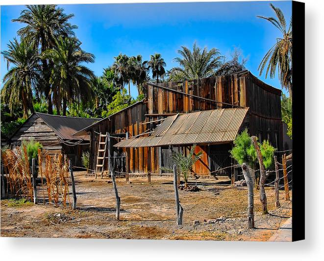 Baja California Canvas Print featuring the photograph Loreto Barn by Scott Massey