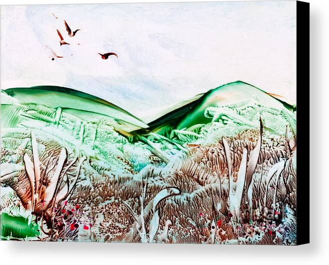 Country Canvas Print featuring the painting Mountain Scene by Simon Bratt Photography LRPS