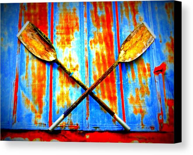 Oar Canvas Print featuring the photograph Oar Else by Randall Weidner