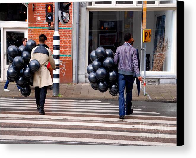 Balloons Canvas Print featuring the photograph Stripes And Balls by Andrea Simon