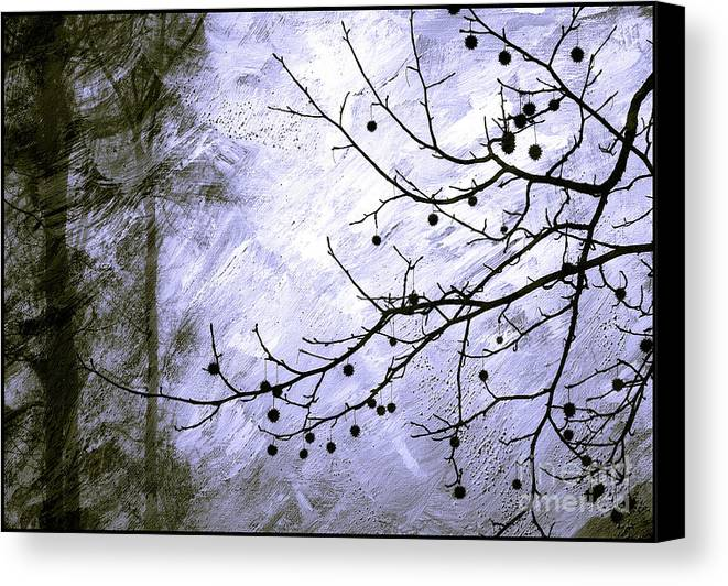 Snow Canvas Print featuring the photograph Sudden Snowstorm by Judi Bagwell