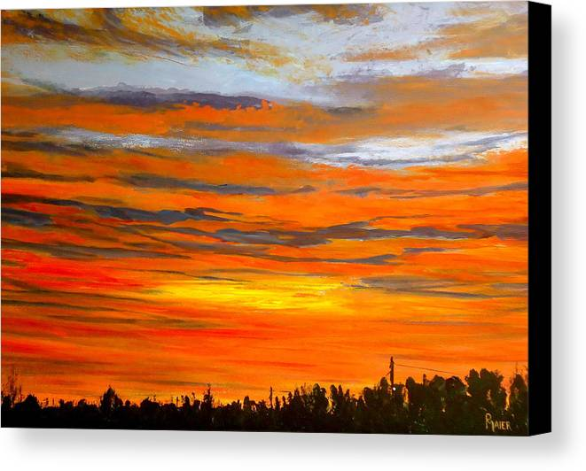 Sunrise Canvas Print featuring the painting Mornin by Pete Maier