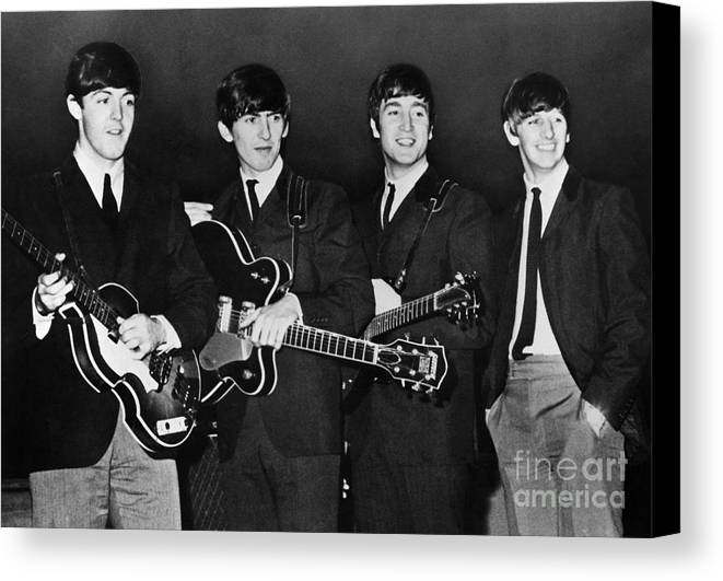 1960s Canvas Print featuring the photograph The Beatles by Granger