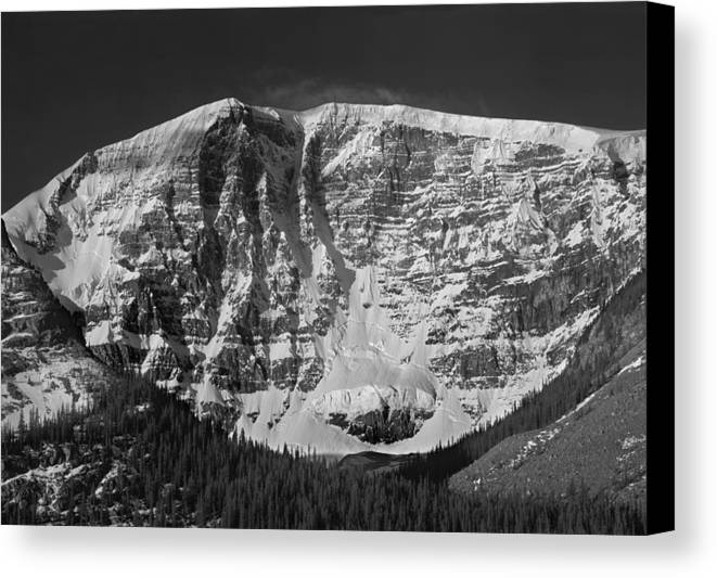 East Face Canvas Print featuring the photograph 1m3769 Bw East Face Mt Kitchner by Ed Cooper Photography