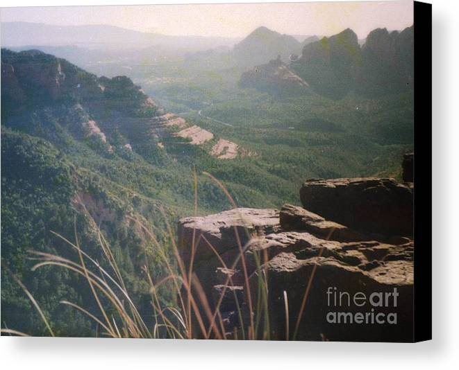 Mountain Canvas Print featuring the photograph Sedona Mesa by Ted Pollard