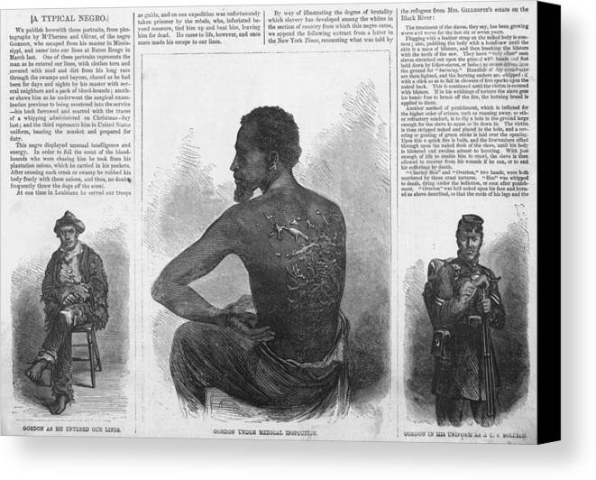 History Canvas Print featuring the photograph An African American Runaway Slave Named by Everett