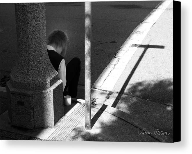 Cross Canvas Print featuring the photograph Break Time by Sabine Stetson