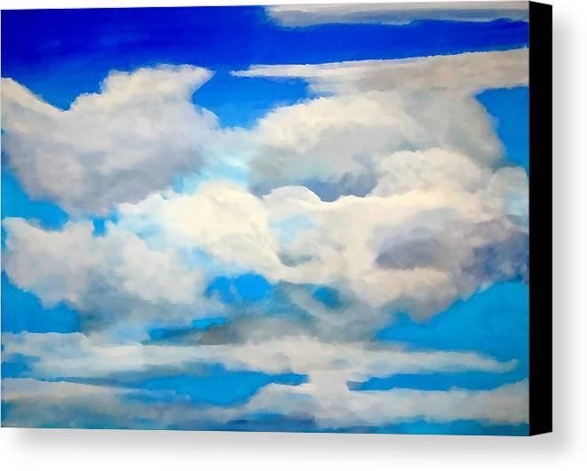 En Plein Air Canvas Print featuring the painting Cloud Study by Donna Proctor