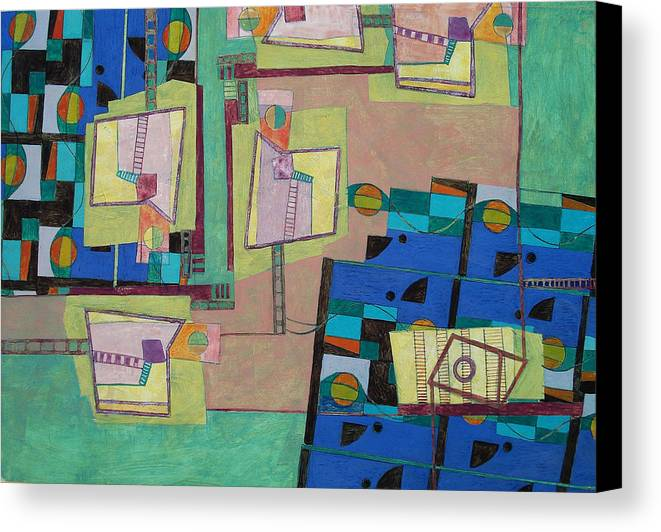 Abstract Art Canvas Print featuring the painting Composition Xxii 07 by Maria Parmo