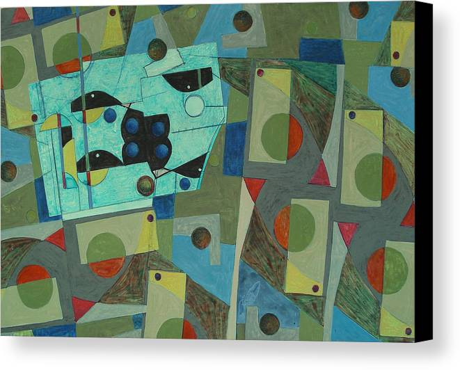 Abstract Canvas Print featuring the painting Composition Xxv 07 by Maria Parmo