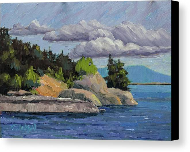 Original Painting At East Sooke Park Canvas Print featuring the painting East Sooke 2017 by Rob Owen