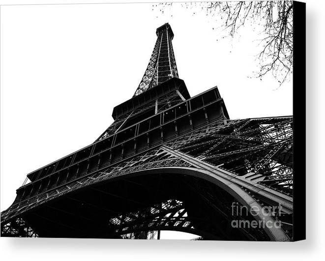 Eiffel Tower Canvas Print featuring the photograph Eiffel From An Angle by Joshua Francia
