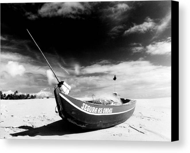 Fisherman Canvas Print featuring the photograph Fisherman Boat by Amarildo Correa