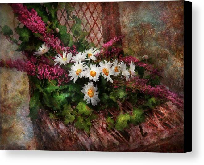 Suburbanscenes Canvas Print featuring the digital art Flower - Still - Seat Reserved by Mike Savad