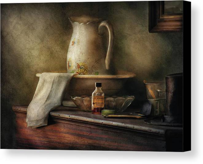 Savad Canvas Print featuring the photograph Furniture - Table - The Water Pitcher by Mike Savad