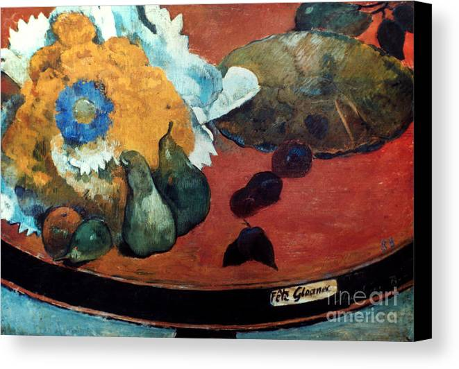 1888 Canvas Print featuring the photograph Gauguin: Fete Gloanec, 1888 by Granger