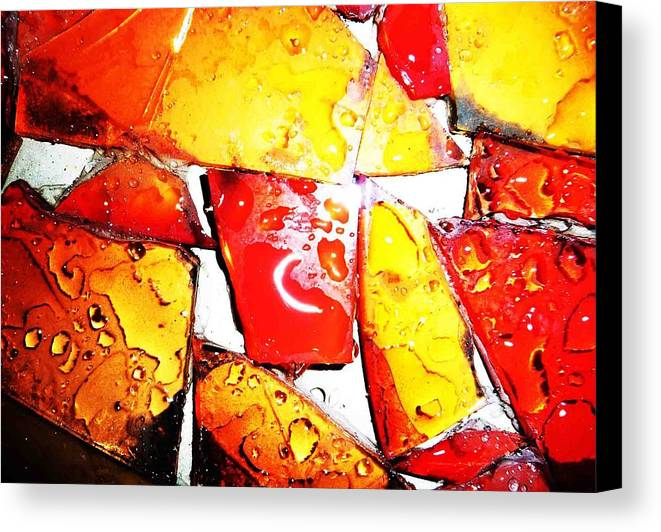 Canvas Print featuring the photograph Glass by Jacqueline Doulis