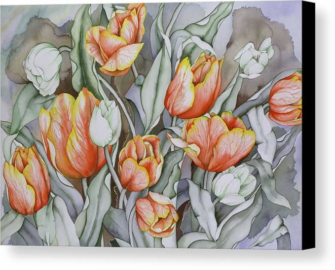 Flowers Canvas Print featuring the painting Home Sweet Home 2 by Liduine Bekman