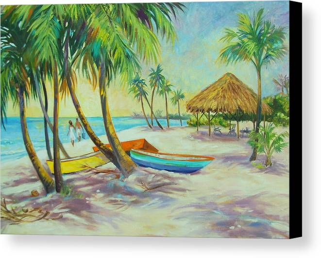 Island Canvas Print featuring the painting Island Memories by Dianna Willman