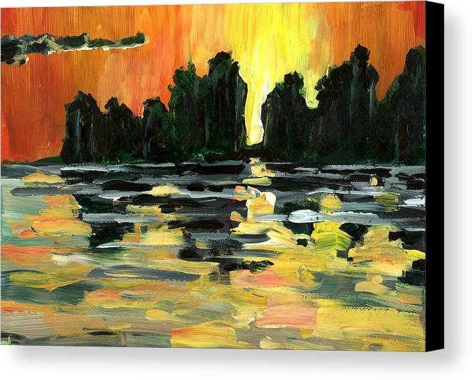 Jungle Canvas Print featuring the painting Jalisco Jungle River by Randy Sprout