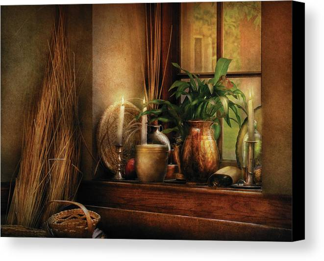 Savad Canvas Print featuring the photograph Kitchen - One Fine Evening by Mike Savad