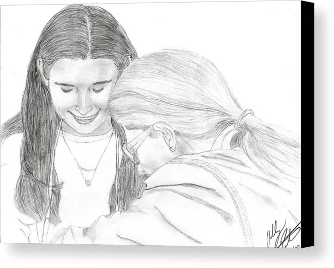 Lesbian Canvas Print featuring the drawing Lasting by Ashley Porter