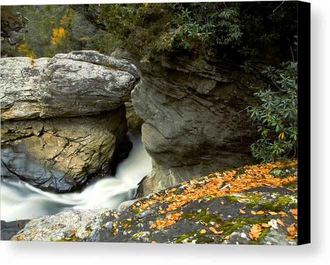 Water Fall Canvas Print featuring the photograph Linville Falls by Gregory Colvin