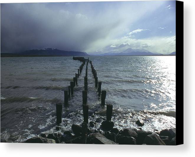 Pier Canvas Print featuring the photograph Old Pier by Marcus Best