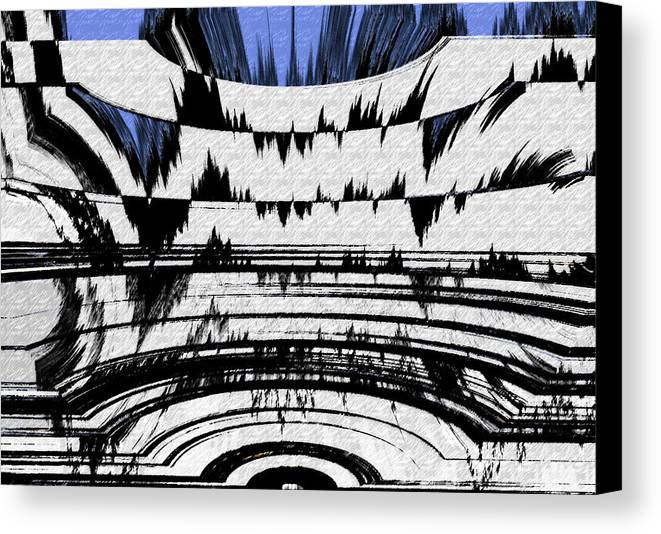 Abstract Canvas Print featuring the digital art Olympics Abstract by Lenore Senior