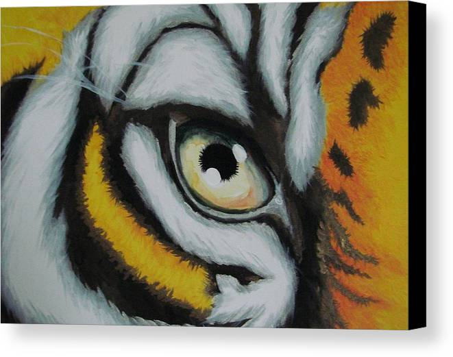 Animal Canvas Print featuring the painting One Sided Look by Glory Fraulein Wolfe
