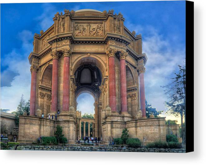 Photomatix Canvas Print featuring the photograph Palace Of Fine Arts With Atmospherics by Ken Osborn