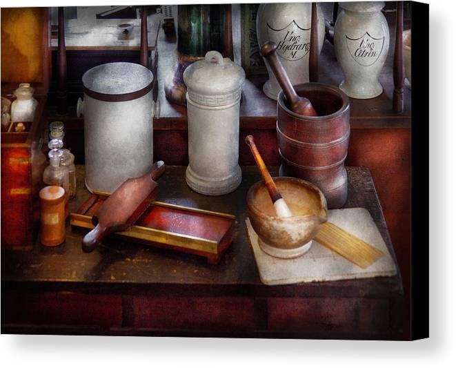 pharmacist equipment for making pills canvas print canvas art by