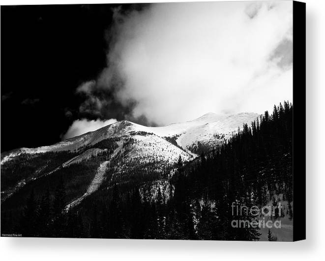 Landscape Canvas Print featuring the photograph Pikes Peak Western Slope by John Hermann