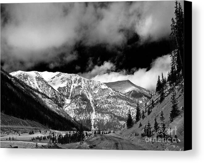 Landscape Canvas Print featuring the photograph Rocky Mountian High by John Hermann