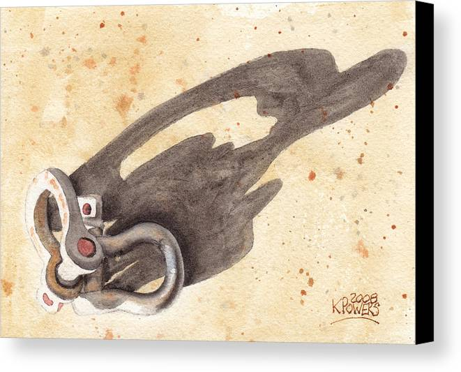 Shackles Canvas Print featuring the painting Shackles With Five O Clock Shadow by Ken Powers