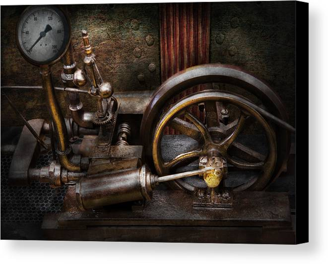 Hdr Canvas Print featuring the photograph Steampunk - The Contraption by Mike Savad