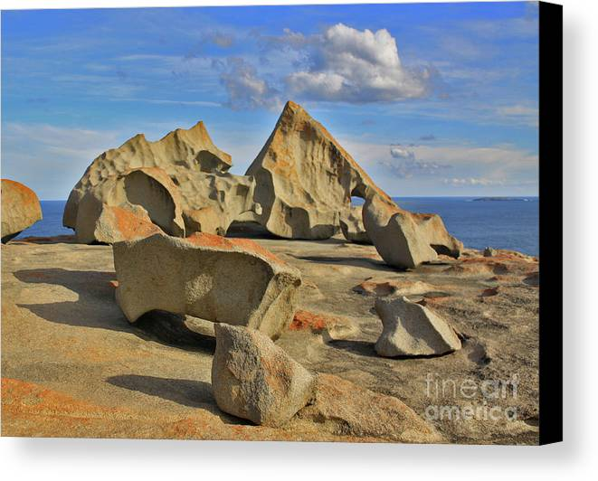 Stone Canvas Print featuring the photograph Stone Sculpture by Stephen Mitchell