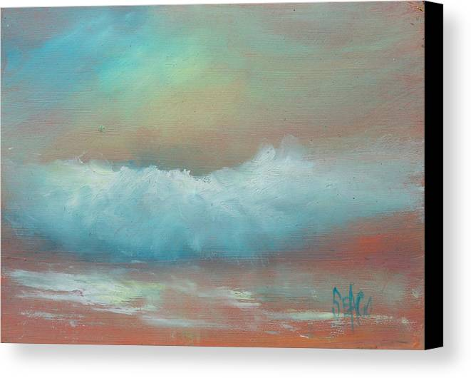 Surf Canvas Print featuring the painting Sunset Beach by Sally Seago