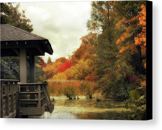 Nature Canvas Print featuring the photograph Sunset Horizon by Jessica Jenney