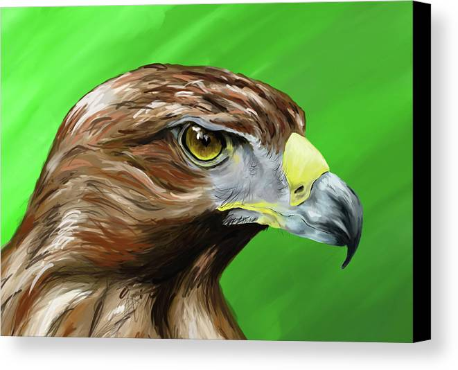 Eagle Canvas Print featuring the painting Tawny Eagle by Jennifer Phillip